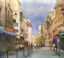 Latin Quarter, Paris by Sergei Kurbatov