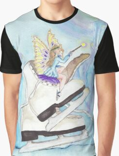 Glacier Skating Fairy Graphic T-Shirt