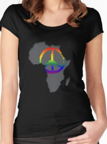 Peace in Africa T-Shirt Women's Fitted Scoop T-Shirt