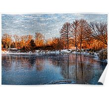 Cold Ice, Warm Light – Lake Ontario Impressions Poster