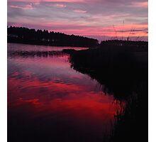 Red Lake Sunset Photographic Print