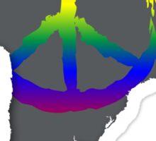 Peace in South America T-Shirt Sticker