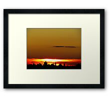 Sundown with a heavy layer of clouds, NYC Framed Print