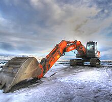 Excavator on Ice, HDR by chaucheong