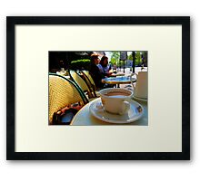 coffee at the select Framed Print