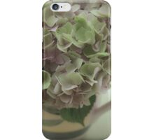 Pale hydrangeas in a jug iPhone Case/Skin