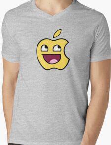 Happy apple Mens V-Neck T-Shirt