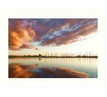 Reflecting on Yachts and Clouds - Lake Ontario Impressions Art Print