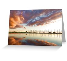 Reflecting on Yachts and Clouds - Lake Ontario Impressions Greeting Card