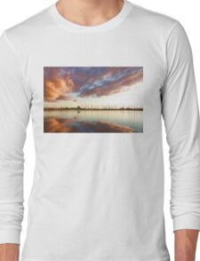 Reflecting on Yachts and Clouds - Lake Ontario Impressions Long Sleeve T-Shirt