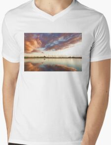 Reflecting on Yachts and Clouds - Lake Ontario Impressions Mens V-Neck T-Shirt