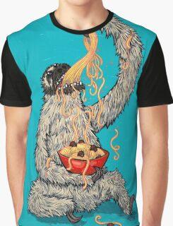 A Sloth Eating Spaghetti Graphic T-Shirt