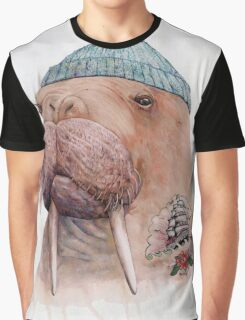 Tattooed Walrus Graphic T-Shirt
