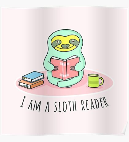 Reading Sloth Poster