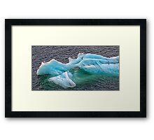 Frozen Landing Pad Framed Print