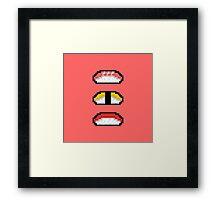 Pixel Nigiri Sushi Framed Print