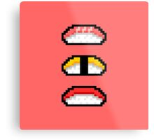 Pixel Nigiri Sushi Metal Print