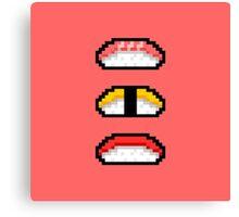 Pixel Nigiri Sushi Canvas Print