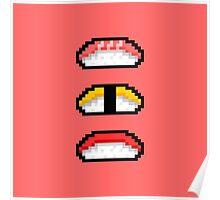 Pixel Nigiri Sushi Poster