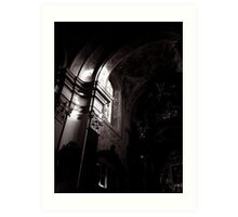 a ray of light in mariahilferkirche Art Print