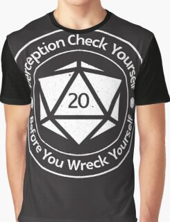 Perception Check Yourself Before You Wreck Yourself Graphic T-Shirt