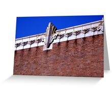 architectural detail,deco building in berkeley Greeting Card