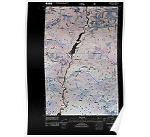 USGS Topo Map Washington State WA Elwha 20110509 TM Inverted Poster
