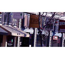 shops along college avenue Photographic Print