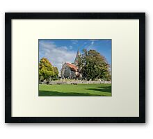 Alfriston Church from across the green Framed Print