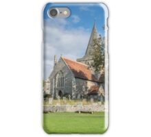 Alfriston Church from across the green iPhone Case/Skin