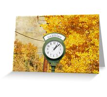Autumnal Minute Greeting Card