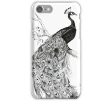 Fancy Ink Peacock iPhone Case/Skin
