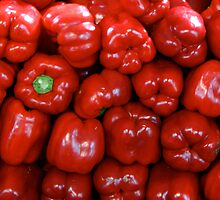 Sweet Red Peppers by Maggie Hegarty
