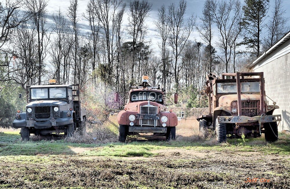 Three Old Trucks (HDR) by Jeff Ore