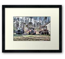 Three Old Trucks (HDR) Framed Print