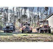 Three Old Trucks (HDR) Photographic Print