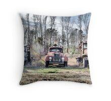 Three Old Trucks (HDR) Throw Pillow