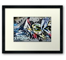 Abstract Graffiti on the textured wall Framed Print