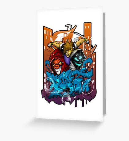 boston graffiti Greeting Card