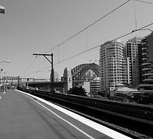 waiting for the train by kchamula