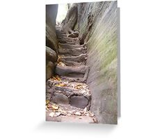 Stone Stairs Greeting Card
