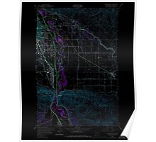 USGS Topo Map Washington State WA Yakima East 244816 1953 24000 Inverted Poster