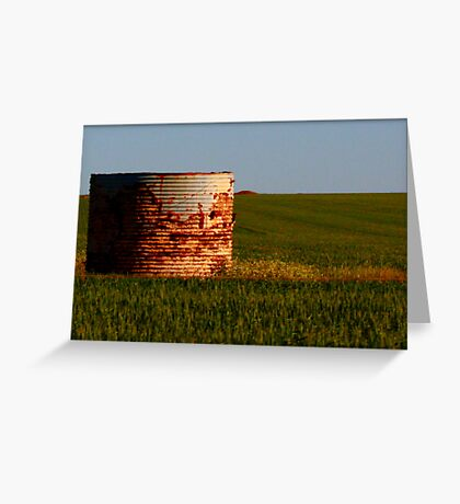 THE OLD WATER TANK,  it's still standing  Greeting Card