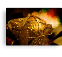Christmas Ribbons & Lights Canvas Print