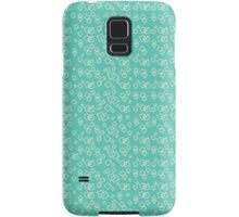 50s Teal and light yellow pattern Samsung Galaxy Case/Skin