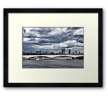 Impressions of London - Stormy Skies Skyline Framed Print