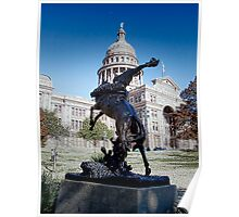 Tribute to the Rough Riders of the Range - Texas State House - Austin - Texas Poster