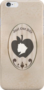 "Snow White Apple Silhouette ""Just One Bite"" by joshda88"