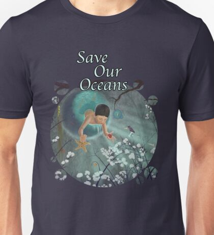 Keepsakes of the Ocean - Save Our Oceans - Bubble cut out T-Shirt