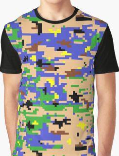 8-bit Digital Camo (Luigi) Graphic T-Shirt